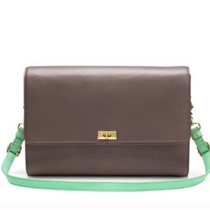 EUC {J. Crew} colorblock edie purse